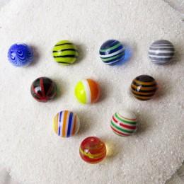 10 sztuk niestandardowe wielokolorowe ręcznie wykonane szklane kulki bajki dekoracje ogrodowe charms szklane marmurowe ozdoba ku
