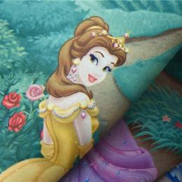 Różowa kreskówka księżniczka zasłony dla dziecka niebieskie zasłony do sypialni tkaniny dla dziecka pokój dziewczyn wykończone z