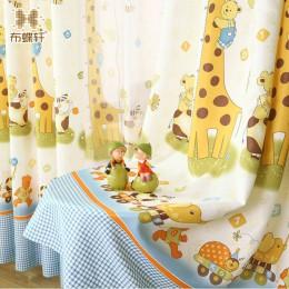 Klasyczna żyrafa i w najlepszych cenach bezpieczne dla środowiska tkaniny Blackout rolety dla dzieci chłopcy sypialnia Cute Anim