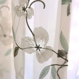 Kwiecista koronka tiul zasłony do salonu sypialnia haftowane prześwitujące firanki dla dzieci okno sypialni woal zasłony zasłony