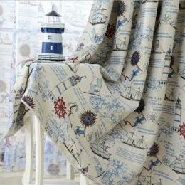 Topfinel gorący sprzedawanie statek piracki kotwica zasłony dla dzieci pokój dziecięcy salon zasłony okienne do sypialni zasłony