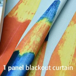 Nowy Cartoon kolor ołówki zasłony dla dzieci dla dzieci pokoju zasłony do salonu zasłony zaciemniające do sypialni dla dzieci pi