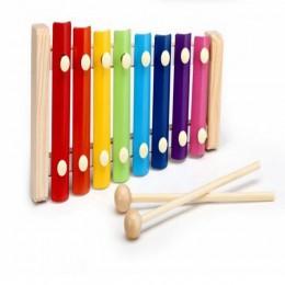 Zabawki montessori dla dzieci wczesna edukacja puzzle do nauki drewniane zabawki ksylofon zabawki muzyczne mądrość instrument mu