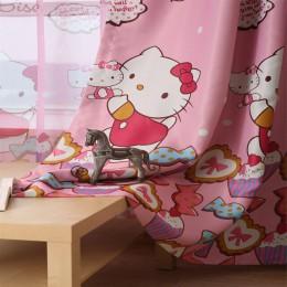 Śliczne piękny kot kreskówka drukowane zasłony dla dzieci dziecko dzieci sypialnia zasłony do salonu zasłony
