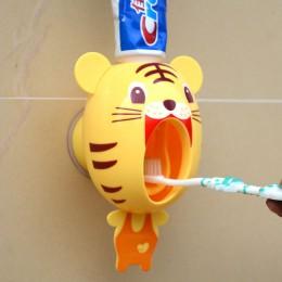 Nowy kreatywny uroczy bajka automatyczny dozownik pasty do zębów stojak z uchwytem na ścianę zestawy łazienkowe dla dzieci dziec