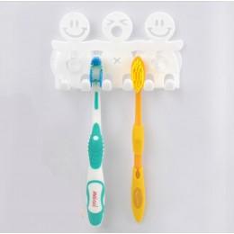 Uchwyt na szczoteczki do zębów plastikowe kreskówki dla dzieci w kształcie 5 pozycji szczoteczka do zębów hak do zawieszania Por