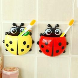 Piękny biedronka uchwyt na szczoteczki do zębów ścienny hak z przyssawką zestaw łazienkowy szczoteczka do zębów dla dzieci dziec