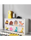 Cube Oxford tkaniny zwierząt haftować składany schowek zabawki dla dzieci organizator dzieci kosz do przechowywania drobiazgów o