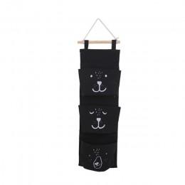 3 kieszenie śliczne naścienne worek do przechowywania szafa organizator ubrania wisząca torba do przechowywania pokrowiec dzieci