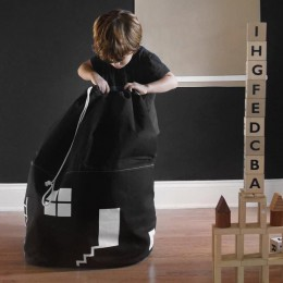 Dekoracja pokoju o dużej pojemności ładny dom worek do przechowywania dzieci dzieci zabawki dla dzieci bawełniane płótno zabawki