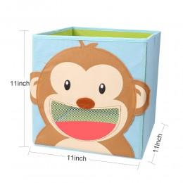 Nowy składany nietkany pojemnik na zabawki dla dzieci Bin Box-3D Cartoon zwierząt dla dzieci zabawki skrzynia i szafa organizato