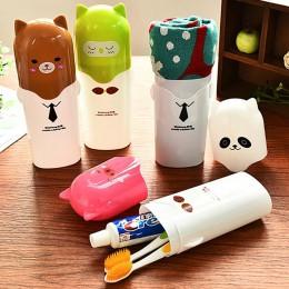 Z tworzywa sztucznego Cute Cartoon pojemnik na szczoteczkę do zębów dla dzieci podróżny przenośny pojemnik na szczoteczkę do zęb
