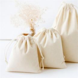 Bawełniana tkanina lniana ścierka do kurzu torby na prezenty dla dzieci w stylu rustykalnym torebka płócienna ze sznurkiem jedno