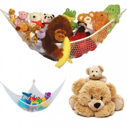 Organizuj ręczniki CHILDS Baby Large 25lbs Animals TEDDY Organizer Tidy hamak zabawkowy przedszkole przechowywanie miękka siatko