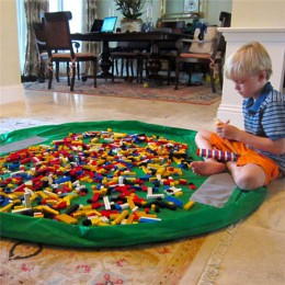 150cm dla dzieci dzieci dziecko gra Mat dywan dywan worek do przechowywania zabawek do kąpieli Box organizator koszyk duża pojem