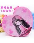 Biżuteria dziewczęca pudełko w kształcie serca dzieci cartoon księżniczka kosmetyczka przechowywanie kosmetyków pudełko na naszy