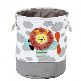 Nowy lew żyrafa kreskówka płótno przechowywania kosz na zabawki dziecko składany kosz na pranie brudne ubrania organizator
