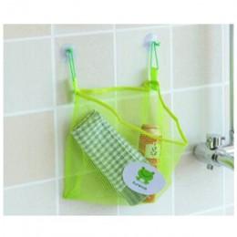 Przyssawka kosze netto przechowywanie narzędzi domowych ekologiczna siatka łazienkowa torba składana wanienka pojemnik na zabawk