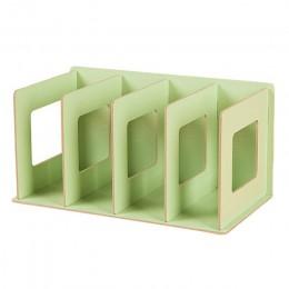 Proste wielu-Tier półka na książki 4 siatki kreatywny półka do przechowywania do książek rozmaitości DIY drewniane, na szafkę bi