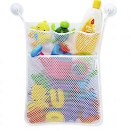 Gospodarstwa domowego kosz łazienka organizator dziecko zabawki do kąpieli netto wiszące torby składane siatki netto worek do pr