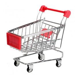 Śliczne dziecko schowek na zabawki mini zabawka pojemnik Supermarket wózek koszyk na zakupy tryb pojemnik na zabawki czerwony