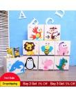 Nowy 3D pudełko do przechowywania zabawek Cartoon zwierząt składany pojemnik do przechowywania szafa szuflada organizator na ubr