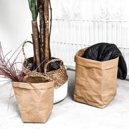 Sukulenty Kraft papierowy kwiat pokrywka zmywalne torby do przechowywania rośliny doniczka torba dziecięca organizer do suszenia