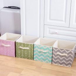 Nowe składane włókniny pudełko do przechowywania z tkaniny Cube Bin dla dzieci zabawki organizer do suszenia prania pojemniki do