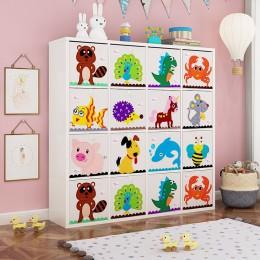 13 cal kostka dzieci schowek kreskówki tkaniny zwierząt pudełko do przechowywania zabawek na ubrania pojemnik na śmieci do dla d