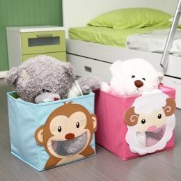 Nowy składany włókniny zabawki dla dzieci do pojemnika kosz na pojemnik-3D Cartoon zwierząt zabawki dla dzieci klatki piersiowej