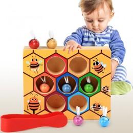 Drewniane dzieci edukacja klip muzyka ula gry wczesna edukacja dziecięca inteligencja kolor poznanie klip mała pszczoła zabawka