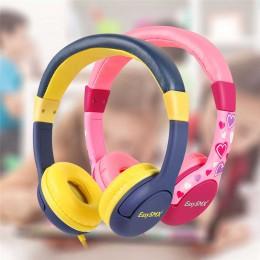 Słuchawki dla dzieci EasySMX KM-666 słuchawki z 80-85dB dziecko bezpieczne głośność słuchawki do xiaomi iPhone iPad Smartphone
