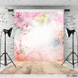 Fotograficzne tło kolorowy kwiaty Bokeh Vinyl Studio tło Photobooth dla dzieci dla dzieci miłośników Photocall lubi zdjęcie