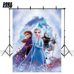 DAWNKNOW mrożone 2 winylu fotografia tło dzieci Party chmura kreskówka Anna ELSA księżniczka tła na zdjęcie dzieci Studio