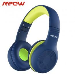 Mpow CH6 Wired Child Kids słuchawki przyrząd do rozdzielania jedzenia 85dB ograniczona głośność z portem AUX 3.5mm do MP3 MP4 PC