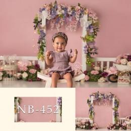 Kolorowe kwiaty fotografia tło noworodka zdjęcie tło dziecko baner urodzinowy Baby Shower foto budka