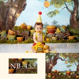 Hunny dziecko fotografia tło noworodka zdjęcie tło na urodziny i bociankowe tło photocall Banner