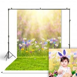 HUAYI wielkanoc fotografia tło noworodki dziecko dziecko wielkanoc wiosna tło do budki fotograficznej Studio portrety tło W-3816