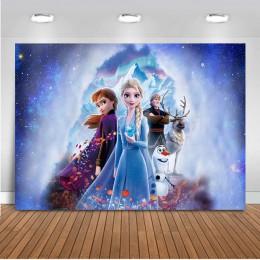 Mrożone urodziny księżniczka fotografia tło Elsa dzieci dziecko lody zimowe zdjęcie tła zadzwoń zdjęcie tła Studio