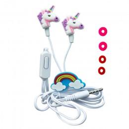 QearFun kolorowe jednorożec słuchawki przewodowe dzieci muzyka słuchawki stereo 3.5mm słuchawki dla Sony Samsung Christmas Gift