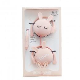 QearFun Cartoon ucho królika hak przewodowe słuchawki sportowe słuchawki stereo do biegania zestaw słuchawkowy dla dzieci dziewc