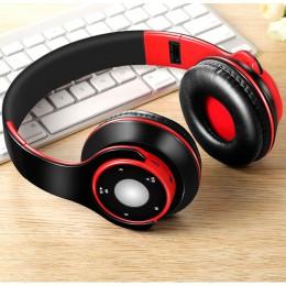 Składane kolorowe bezprzewodowe słuchawki Stereo Bluetooth słuchawki z mikrofonem i kartą TF play dla dzieci dzieci kobiety mężc