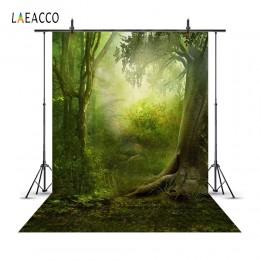Laeacco bajkowe drzewa leśne scena dziecko dzieci fotografia tła dostosowane fotograficzne tła dla Photo Studio