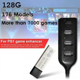 176 modeli 128G 7000 gry gry rozszerzona podwójna gra w domu klasyczne z hubem gry dzieci podwójna gra dla PS1 MINI