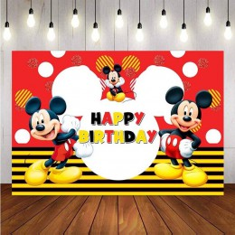 Tło fotografii NeoBack myszka mickey niestandardowe dziecko urodziny zdjęcie z imprezy Studio tła Banner