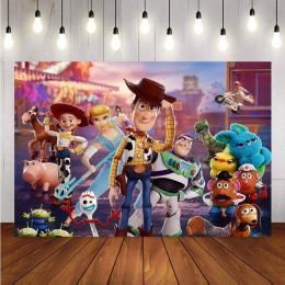 Fotografia Backdrops zabawka z kreskówki historia cukierki dostosuj dzieci dekoracje na przyjęcie urodzinowe Photocall zdjęcie t