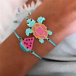 Go2boho Pulseras Mujer Moda 2019 MIYUKI bransoletka kobiety 2 sztuk/partia żółw arbuz biżuteria dziecko zwierząt bransoletki Sum