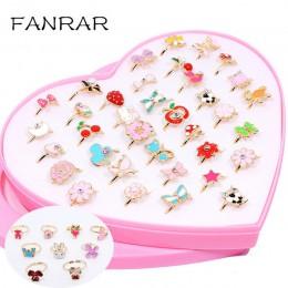 10 sztuk/partia miłość dzieci słodkie słodkie pierścienie kompozycja z kwiatów zwierząt biżuteria akcesoria dziewczyna dziecko p