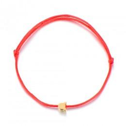 SONGDA słodka Lucky Bear Charm bransoletka dziewczynek dzieci ręcznie regulowana bransoletka z czerwonego sznurka Mini złoty kol