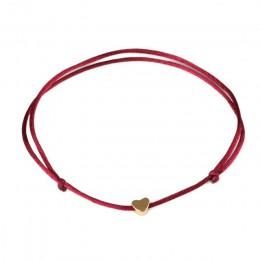 KEJIALAI złoty kolor bransoletka z serduszkiem ręcznie wykonana srebrna biżuteria wielokolorowa lina regulowany sznur szczęśliwa